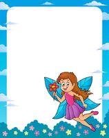 Happy fairy theme frame 1