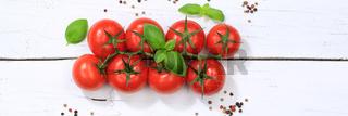 Tomaten Tomate rot Gemüse Banner von oben