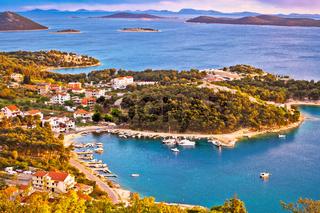 Archipelago of Dalmatia aerial view