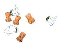 Corks from champagne wine and muselets