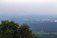 Sigiriya Rock or Sinhagiri aerial panoramic view, which dominates the jungle from all sides, Dambulla in Sri Lanka.