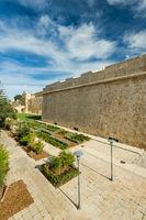 Gardens in Mdina,Malta