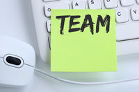 Team Teamwork zusammen arbeiten Arbeit Business Konzept Maus