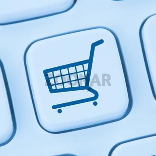 Online Shopping E-Commerce einkaufen Einkauf Internet blau Computer web