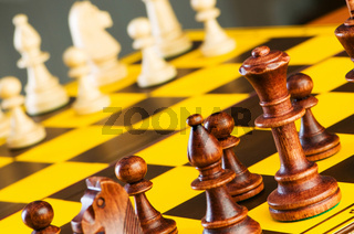 Chess concept with pieces on the board