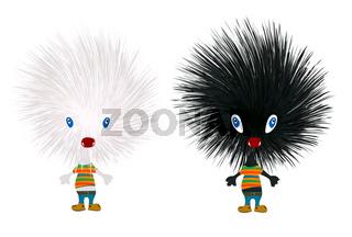 Stylized hedgehogs