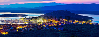 Betina and Murter island evening panorama