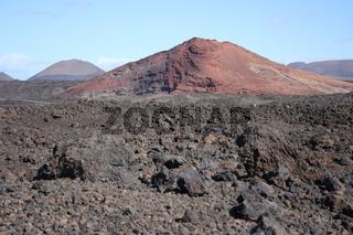 Lanzarote, Vulkanlandschaft mit Lava