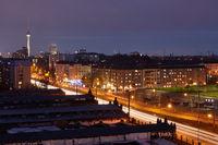 Berlin bei Nacht mit Fernsehturm