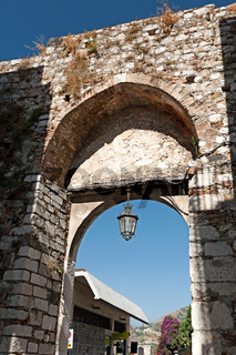 Medieval arch in Taormina, Sicily, Italy