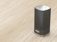 Black smart speaker