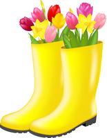 Rain boot With Tulip