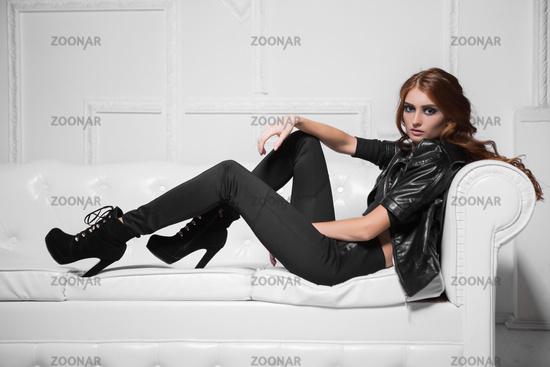 Seductive young model