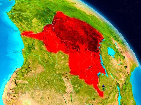 Democratic Republic of Congo on Earth