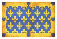 Grunge flag of Ardeche (France)