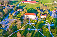 Town of Krizevci park aerial view