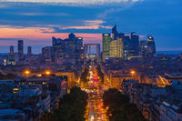 Defense business district in Paris France