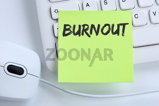 Burnout krank Krankheit im Job Stress Business Konzept Maus