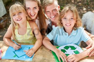 Öko Recycling Logo und Eigenheim