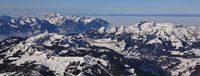 View from glacier des Diablerets direction Leysin.