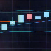 Business candle stick graph chart