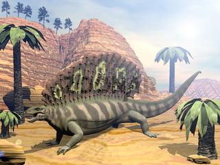 Edaphosaurus dinosaur - 3D render