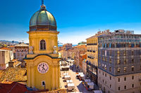 City of Rijeka clock tower and central square