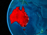 Australia on Earth at night