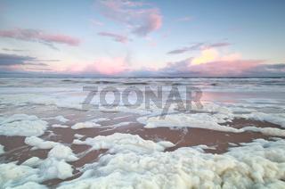 sunrise on North sea coast