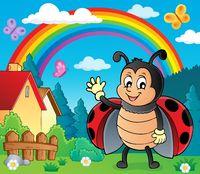 Waving ladybug theme image 3