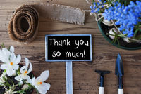 Spring Flowers, Sign, Text Thank You So Much