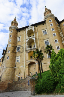 Castle in Urbino Italy