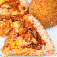 open meat ragu stuffed rice balls arancini