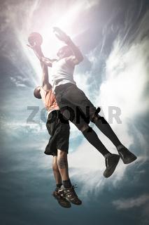 Two Basketball Player