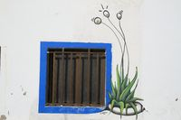 Window in El Cotillo, Fuerteventura, Canary Islands, Spain