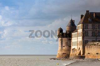 Detail of famous historic Le Mont Saint-Michel Normandy,France
