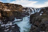 Wasserfall Kolufossar Island