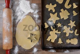Making Holiday Shaped Sugar Cookies