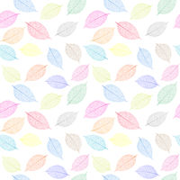 seamless  pattern with skeleton leaves.