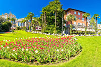 Opatija park and architecture panoramic view