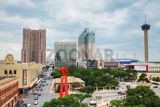 San Antonio aerial view