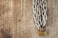 Chain with locked lock