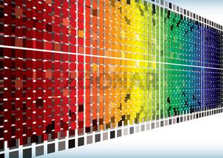 Rainbow burst angle background