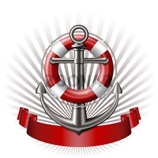 Anchor emblem, vector