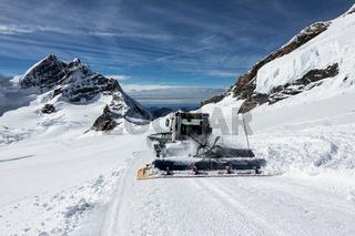 Snowplow - snow piste.