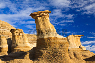 Hoodoos in the badlands near Drumheller, Alberta, Canada