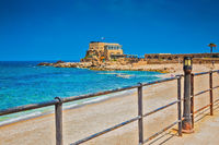 Ancient palace on Mediterranean coast