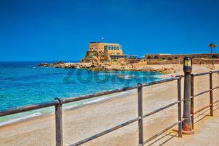 Ancient palace on Mediterranean coast