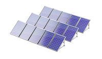 Solar panels generating electricity