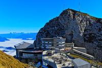 Hotel Pilatus Bellevue am Gipfel Esel, Bergmassiv Pilatus, Alpnachstad, Schweiz